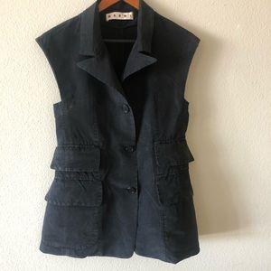 MARNI- Utility Vest- 100 % Silk